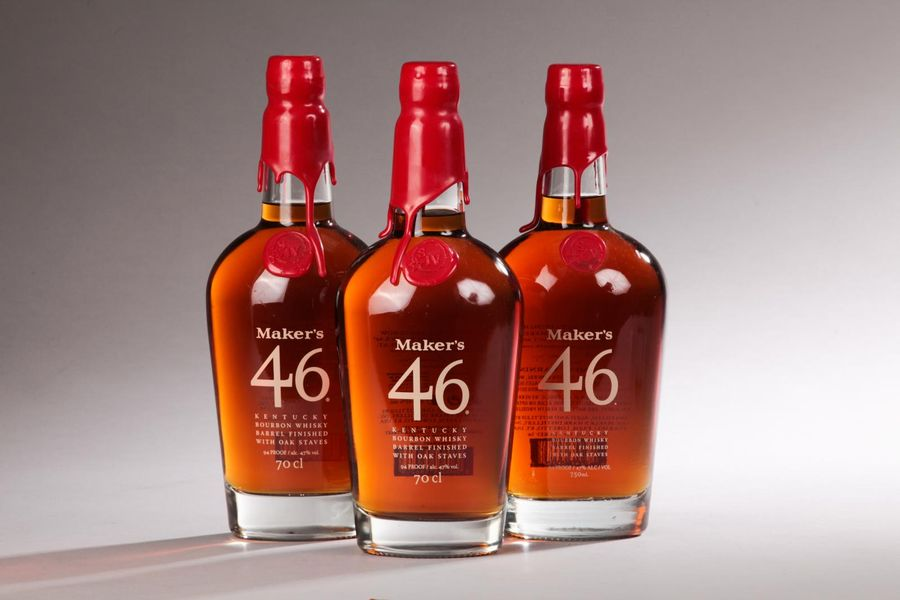 "*3 bouteilles KENTUCKY STRAIGHT BOURBON WHISKEY ""Maker's 46"", Maker's Mark"