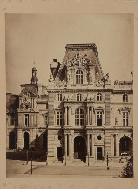 Gustave LE GRAY (1820-1884). Palais du Louvre, Pavillon Turgot, Paris, 1859. Tirage…