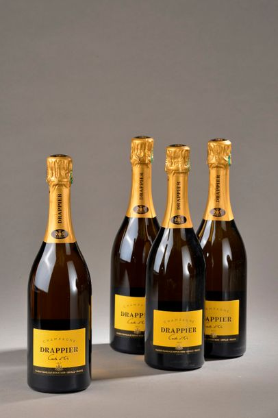 """4 bouteilles CHAMPAGNE """"Carte Or"""", Drappier"""