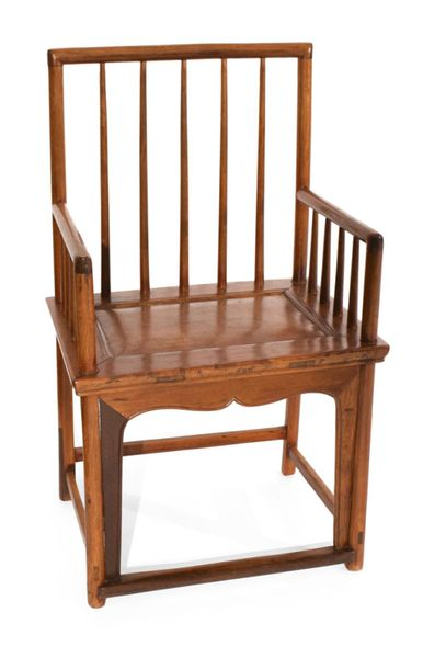 A HARDWOOD ARMCHAIR, China – 93 x 55 x 41 cm