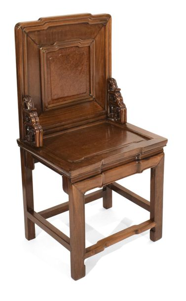 A ROOTWOOD BACK HARDWOOD CHAIR, China – 96 x 50 x 40 cm