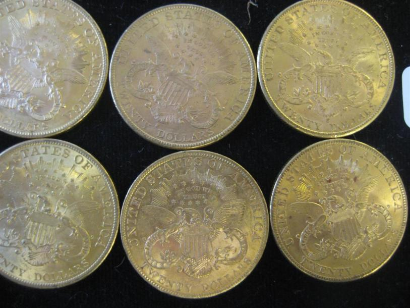 USA 20 Dollars Liberty, 1873, 1878, 1892, 1895 (2), 1900 (6), 1902 (2), 1903, 1904…