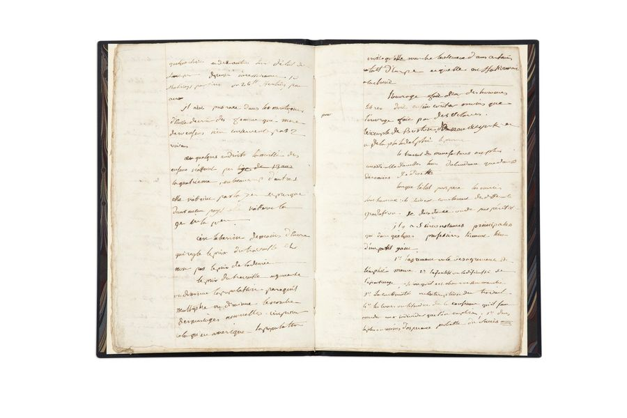NAPOLÉON IER (1769-1821). MANUSCRIT autographe, Notes diverses. Richesse des nations…,…