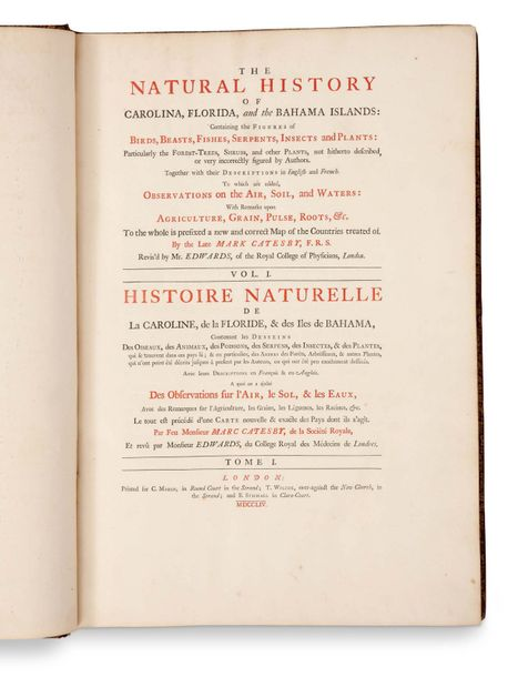 CATESBY MARK (1683-1749). Naturaliste et artiste anglais. The Natural History of…