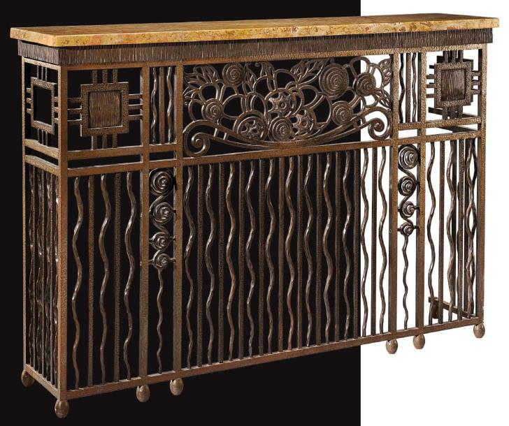 travail francais 1925 console formant cache radiateur. Black Bedroom Furniture Sets. Home Design Ideas