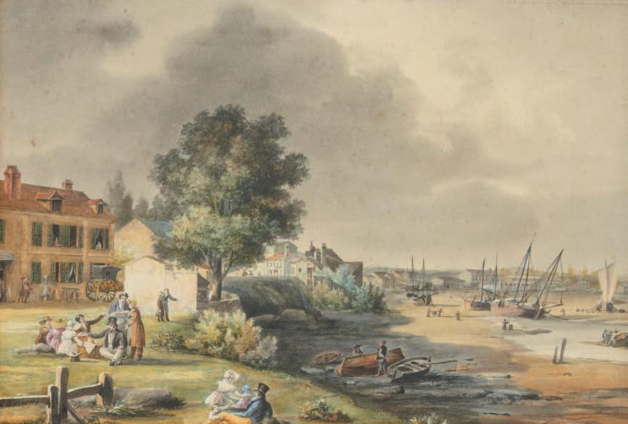 Ambroise Louis GARNERAY (1783-1857) Vue du Port de Royan Aquarelle, signée sur le…
