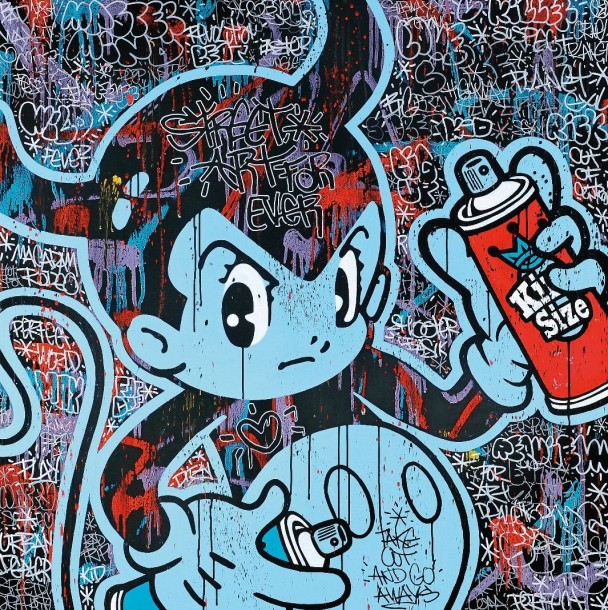 SPEEDY GRAPHITO Français Né(e) en 1961 Street art for ever, 2010 Acrylique sur toile…