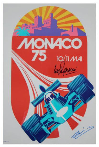 Grand Prix de Monaco 1975 Affiche originale Agence Internationale de Publicité,…