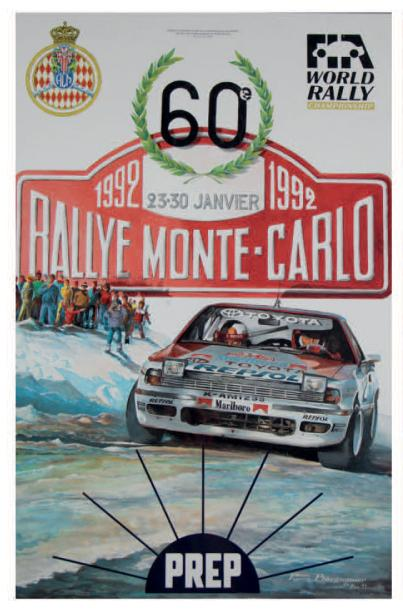 Rallye Automobile de Monte-Carlo 1992 Affiche originale Editions Aramis Communication…
