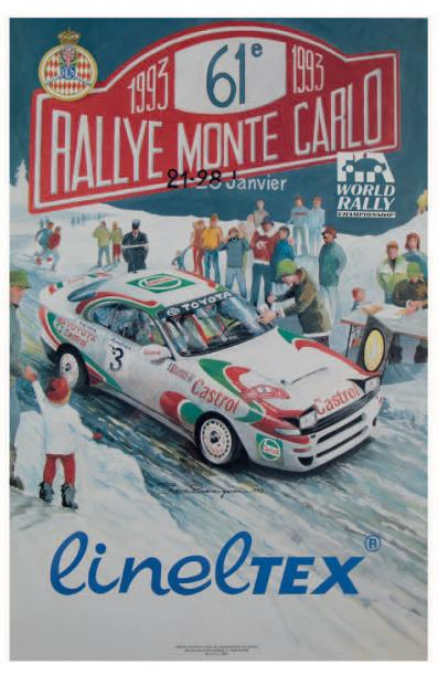 Rallye Automobile de Monte-Carlo 1993 Affiche originale Editions Aramis Communication…