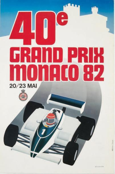 GRAND PRIX DE MONACO 1982 Affiche originale Agence Internationale de Publicité,…