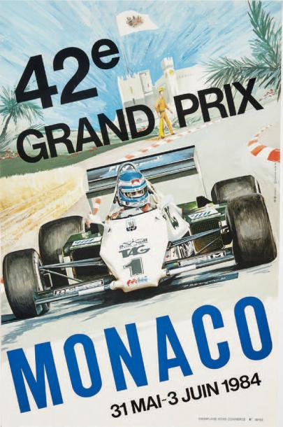 GRAND PRIX DE MONACO 1984 Affiche originale Agence Internationale de Publicité,…