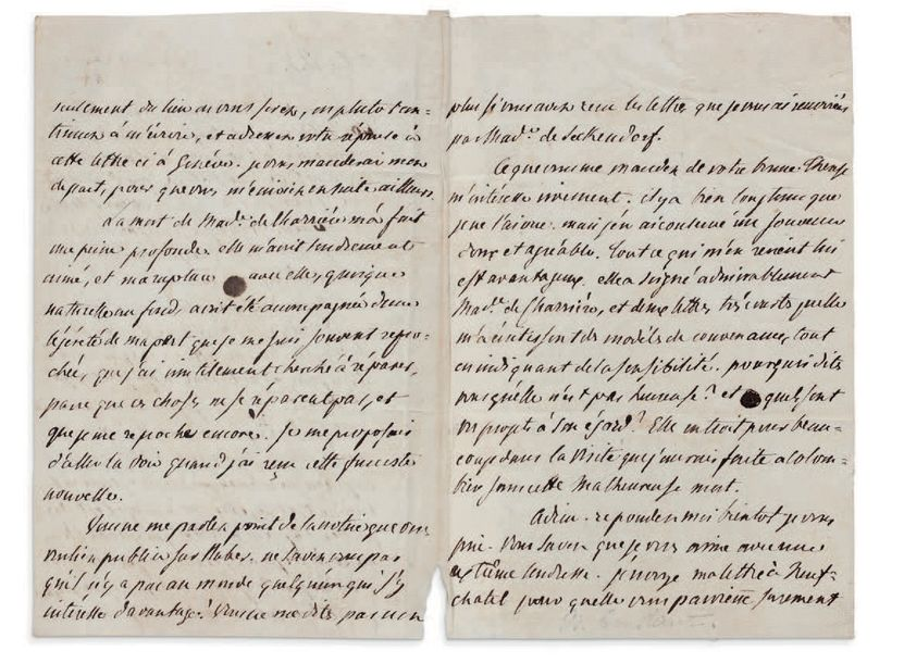 CONSTANT BENJAMIN (1767-1830) L.A., Genève 3 mars 1806, [à Therese HUBER]; 3 pages…