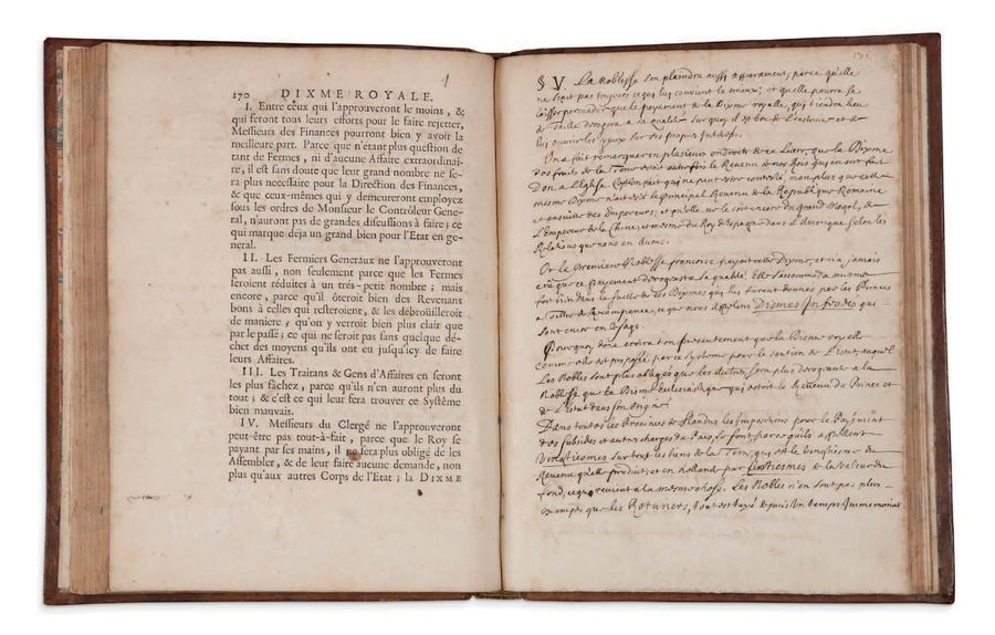 EXEMPLAIRE DE SÉBASTIEN LE PRESTRE DE VAUBAN COMPORTANT QUATRE PAGES DE NOTES AU…