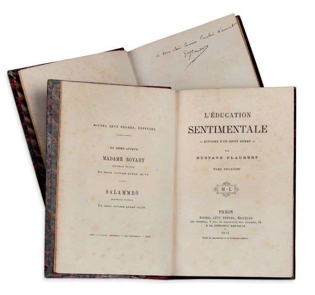 GUSTAVE FLAUBERT (1821-1880) L'Education sentimentale. P. Lévy 1870. 2 vol. in-8…