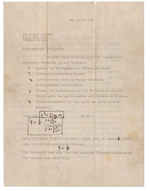 EINSTEIN ALBERT (1879-1955). L.S. avec ADDITIONS autographes, [Princeton] 12 mai…