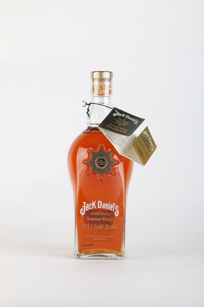 1 B WHISKY GOLD MEDAL 1954 45% NM Jack Daniel's