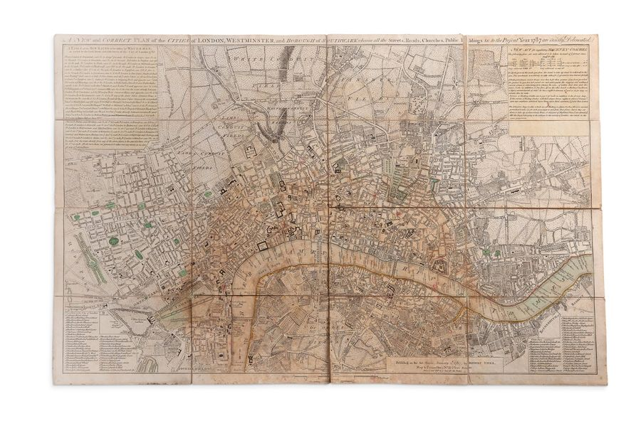 [LONDRES]. Plan de Londres [A New and Correct Plan of the Cities of London, Westminster…