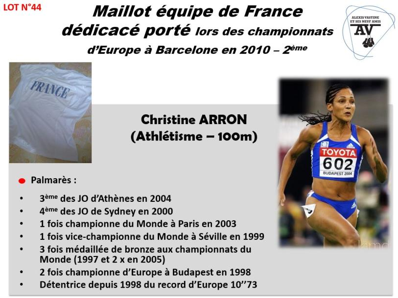 CHRISTINE ARRON ATHLETISME TEE SHIRT EQUIPE DE France CHAMPIONNATS D'EUROPE A BARCELONE…