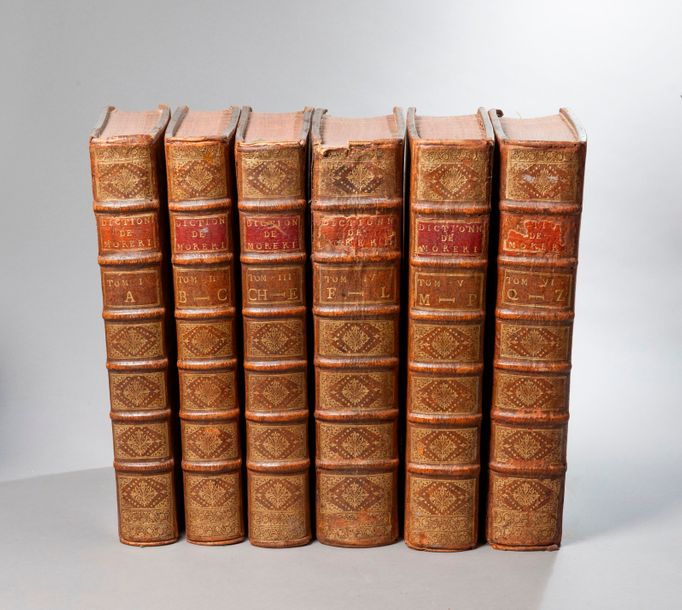 MORERI. Le grand dictionnaire historique… Paris. Coignard. 1725. 6 volumes in-folio,…