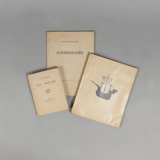 VERHAEREN. Emile. Paul Verlaine. Paris. La centaine. 1928. 1 volume in-12, broché,…