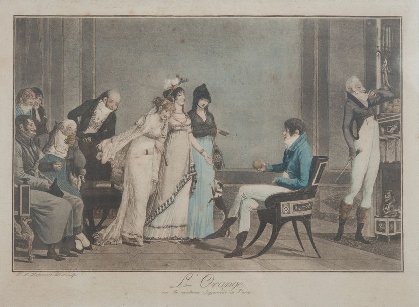 DEBUCOURT Philibert ( 1755-1832), L orange,tirage 25 x 40 cm
