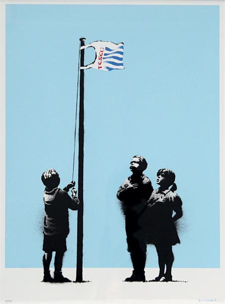 BANKSY (Britannique, né en 1975) Very Little Helps, 2008 Sérigraphie en couleurs…
