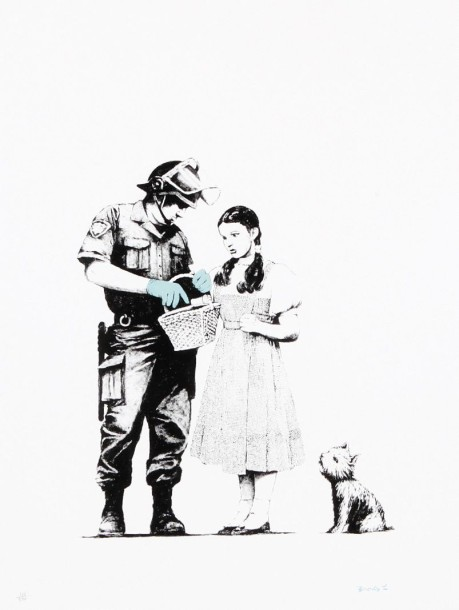 BANKSY (Britannique, né en 1975) Stop and Search Sérigraphie en couleurs sur papier,…