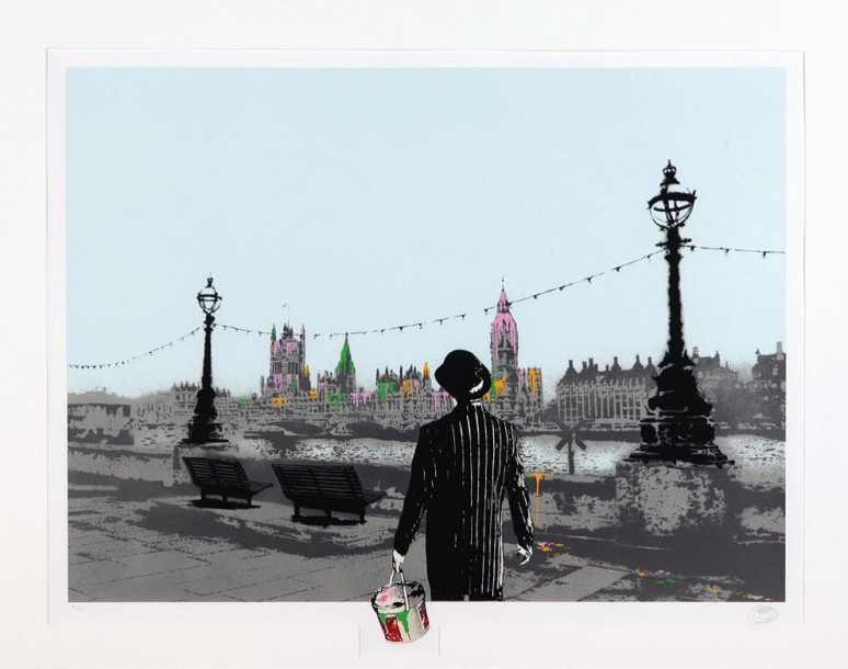 NICK WALKER (Britannique, né en 1969) The Morning After - London Collage, Collage…