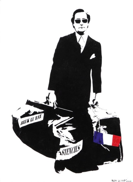 BLEK LE RAT (Français, né en 1951) Man Who Walks Through Walls, 2007 Acrylique et…