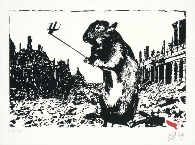 BLEK LE RAT (Français, né en 1952) After the apocalypse  Sérigraphie sur papier,…