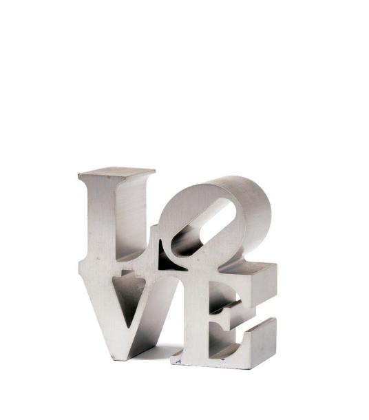Robert INDIANA (né en 1928)  LOVE, 2011  Multiple en aluminium.  Édition Indianapolis…