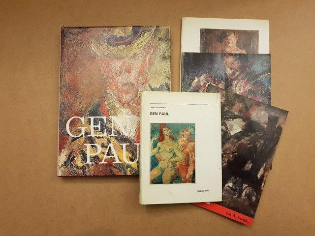 GEN PAUL [3 vol] Catalogue d'exposition, 1987 et 1986 (2), catalogue de vente (1)…