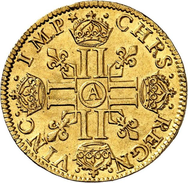 LOUIS XIII (1610-1643). Louis d'or à la mèche mi-longue 1641 PARIS (A). 6,75 g.…