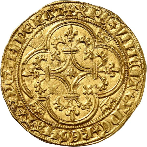 CHARLES VI (1380-1422). Écu d'or de la 2ème émission (1388). 3,88 g. Même description.…