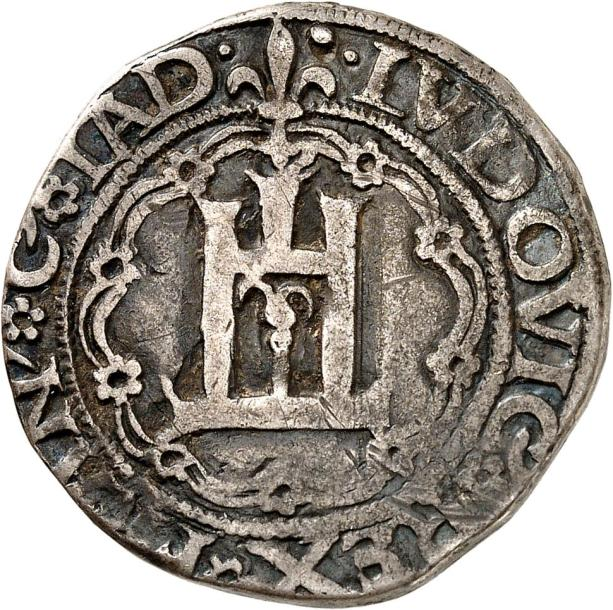 LOUIS XII (1498-1515). OCCUPATION DE GÊNES (1499-1507). Teston en argent ou lire.…