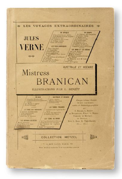 Mistress Branican 1905. Volume grand in-8 broché. 6 hors-texte en couleur.