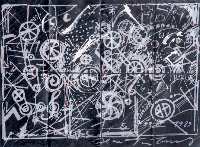 JEAN TINGUELY (1925-1981) Composition abstraite, 1983 Offset lithographique, rehaussée…