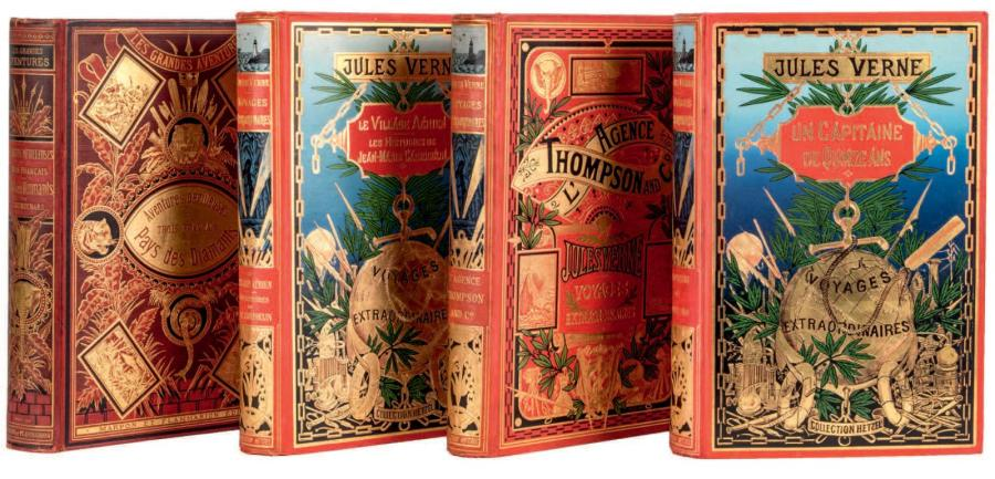 [Afrique] Jules Verne L'Agence Thompson, Collection Hetzel, sd (1907). Cartonnage…