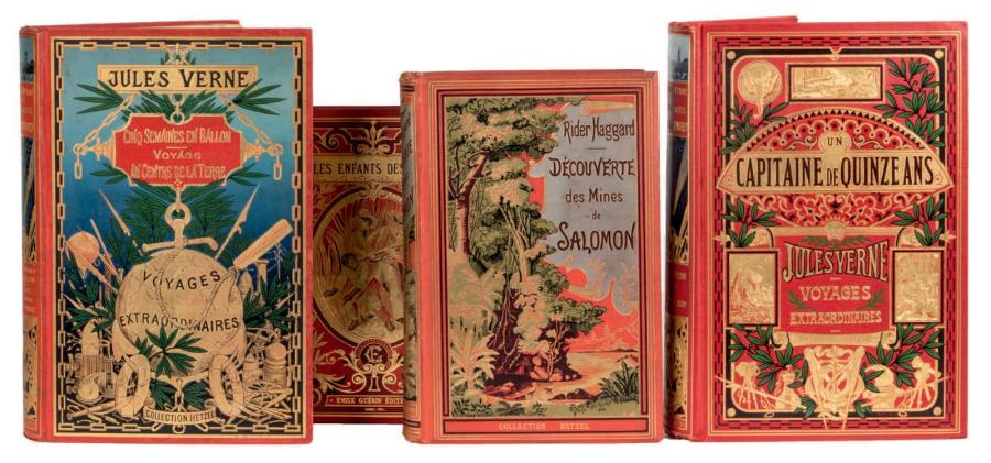 [Afrique] Jules Verne Un capitaine de quinze ans, Collection Hetzel, sd (ca 1910).…