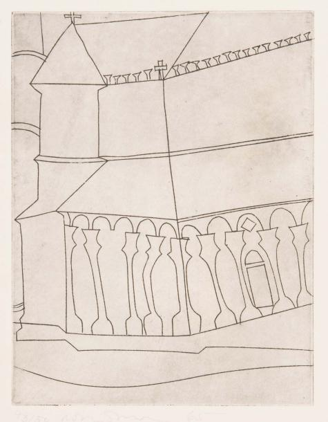 Ben NICHOLSON (1894-1982) Fragment of Tuscan Cathedral, 1965 (Lafranca 18). 200 x…