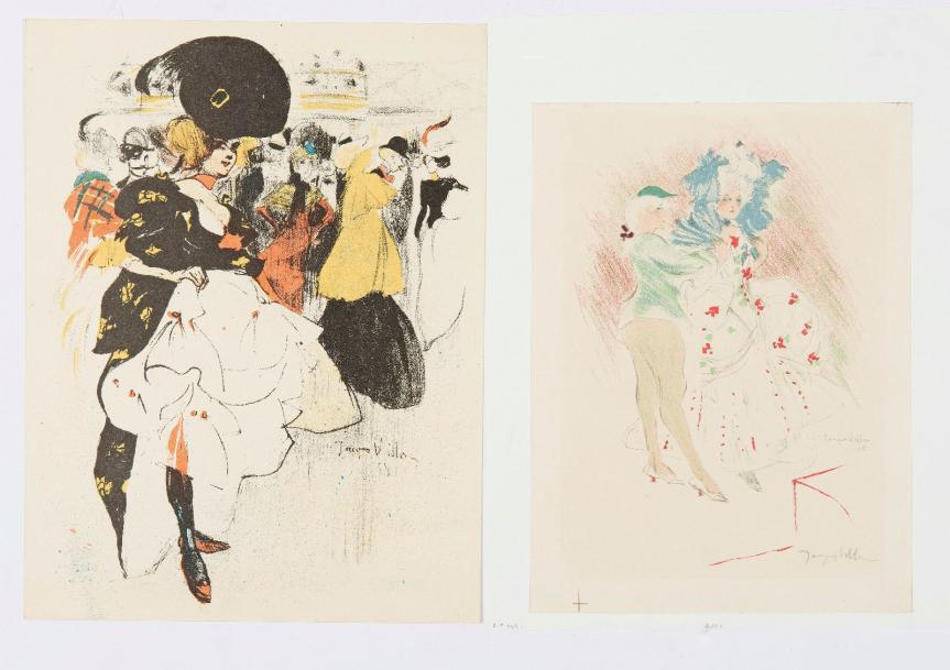 Jacques VILLON (1875-1963) Danseuse au Moulin Rouge, 1899 - Duo Louis XV, 1905 (Ginestet…