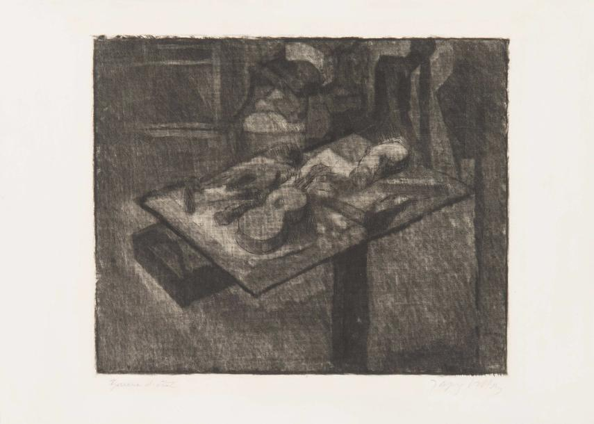 Jacques VILLON (1875-1963) Nature morte au perroquet ou Nature morte à la poussière,…