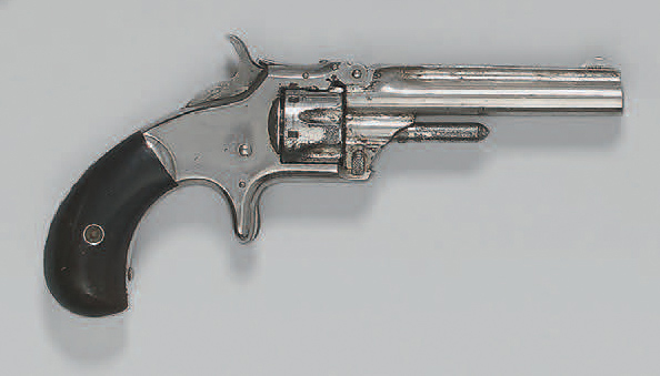 Revolver Smith & Wesson n° 1, third issue, calibre 22 short, simple action; barillet…
