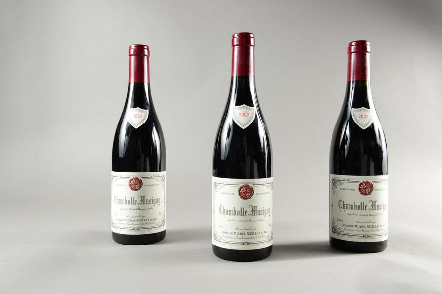 3 bouteilles CHAMBOLLE-MUSIGNY M. Noëllat 2002