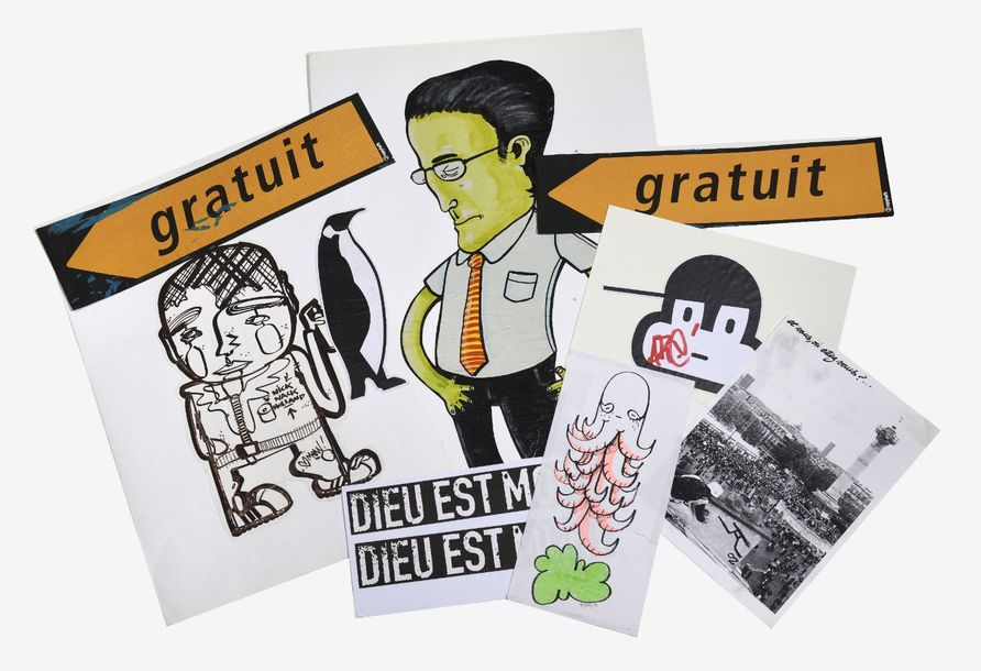 Lot de dessins, graffs, stickers …