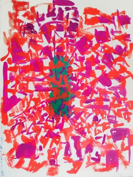 Raymond Marie (1908-1988) (mother of Yves Klein) Untitled - Gouache on paper - Signed…