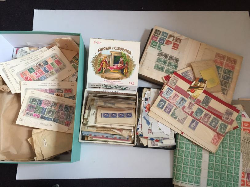 Lot de timbres France, colonies et Monde