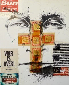 OLIVIER MEGATON JL WAR IS OVER V - 2017 100x80cm