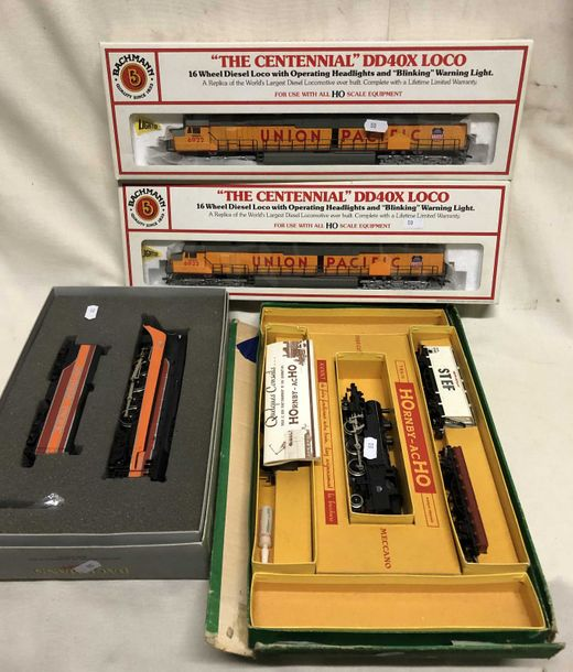 "BACHMANN – HORNBY « HO » : locomotive ""UNION PACIFIC"" réf. 66501 (x 2) – locomotive…"